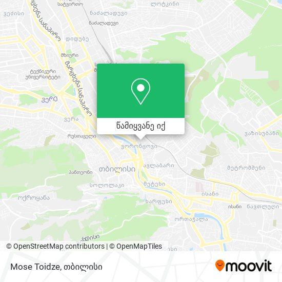 Mose Toidze რუკა