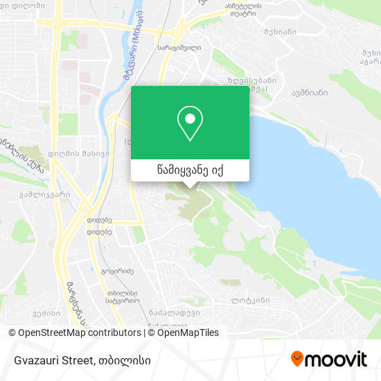 Gvazauri Street რუკა