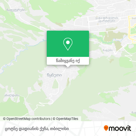 ცოტნე დადიანის ქუჩა რუკა
