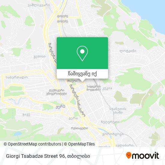 Giorgi Tsabadze Street 96 რუკა
