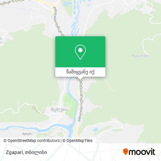 Zgapari რუკა