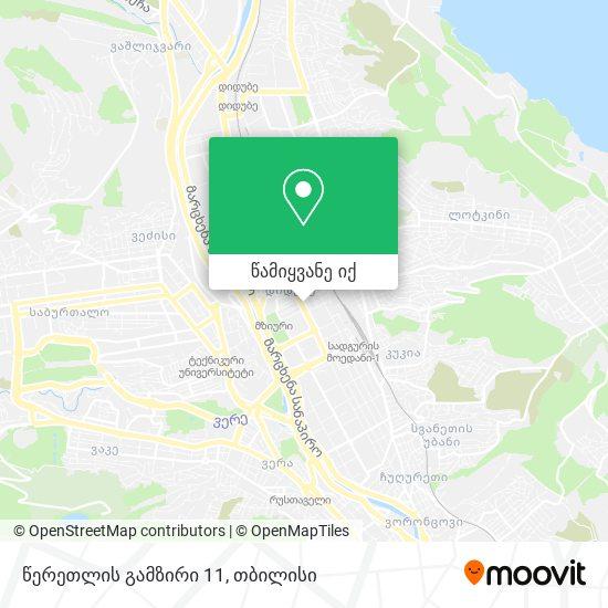 წერეთლის გამზირი 11 რუკა