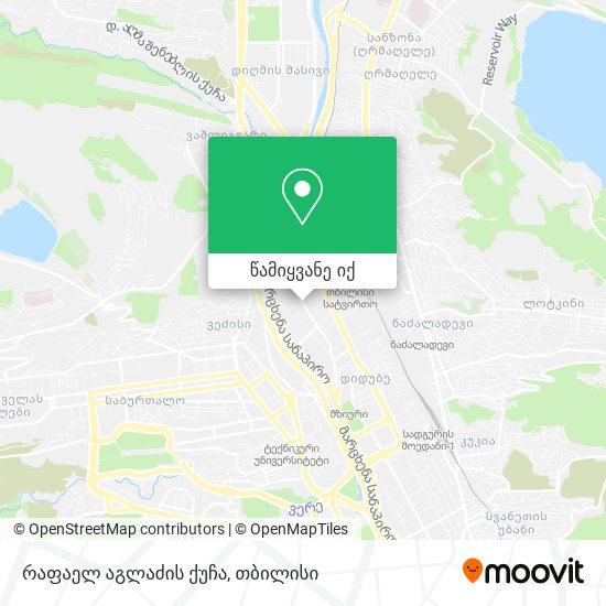 რაფაელ აგლაძის ქუჩა რუკა