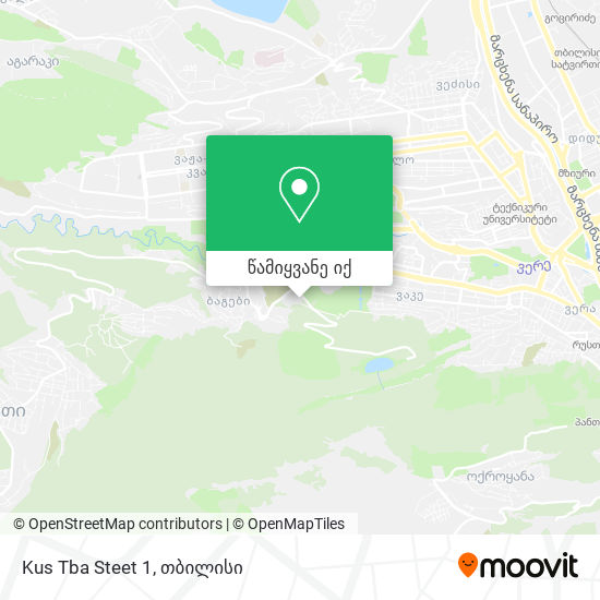 Kus Tba Steet 1 რუკა