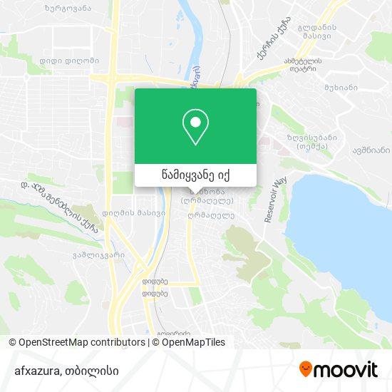 afxazura რუკა