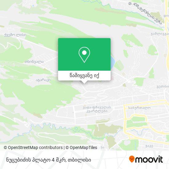 ნუცუბიძის პლატო 4 მკრ რუკა