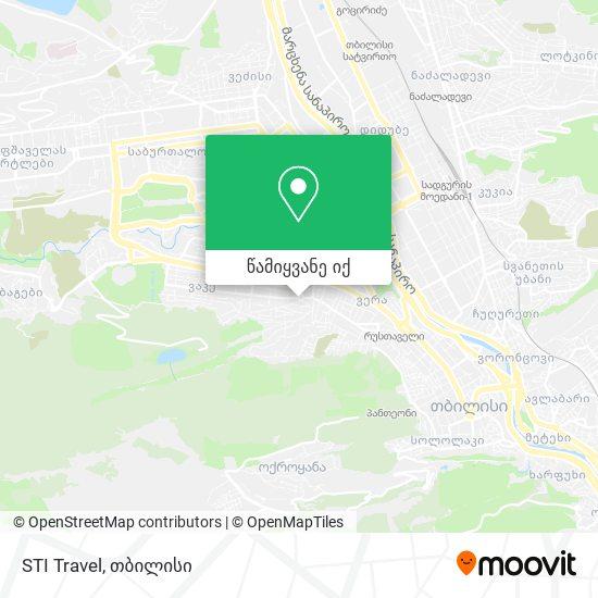 STI Travel რუკა