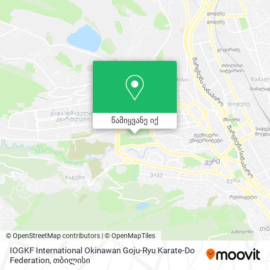 IOGKF International Okinawan Goju-Ryu Karate-Do Federation რუკა