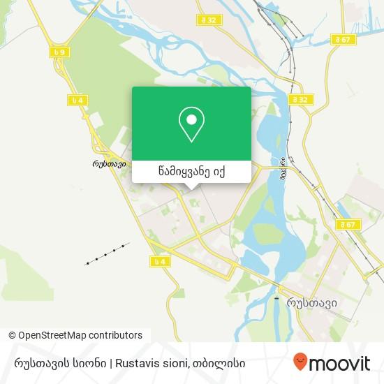 რუსთავის სიონი   Rustavis sioni რუკა