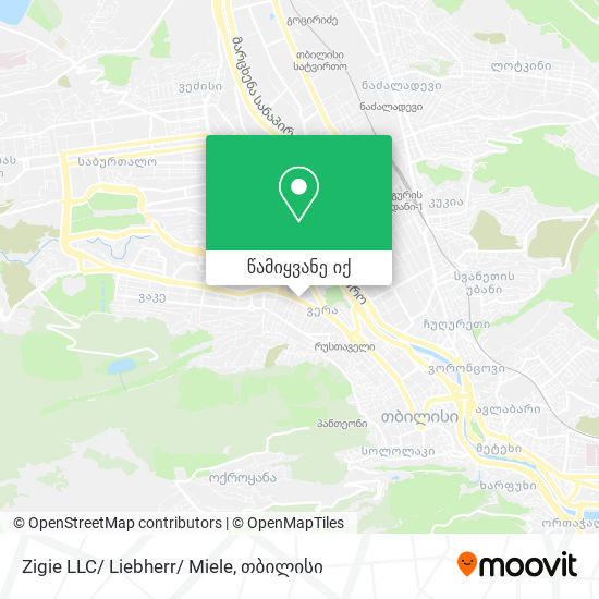 Zigie LLC/ Liebherr/ Miele რუკა