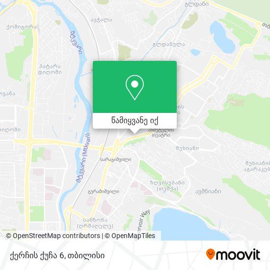 ქერჩის ქუჩა 6 რუკა