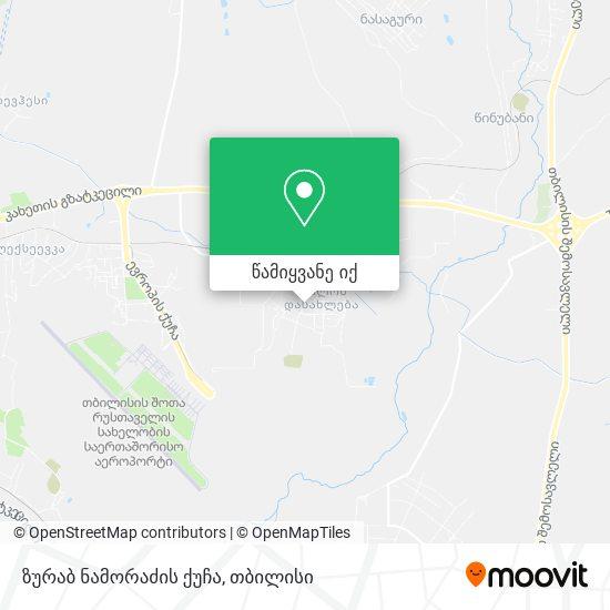 ზურაბ ნამორაძის ქუჩა რუკა