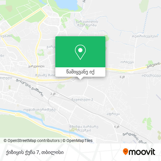 ქიზიყის ქუჩა 7 რუკა