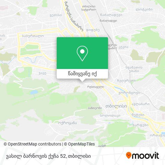 ვასილ ბარნოვის ქუჩა 52 რუკა