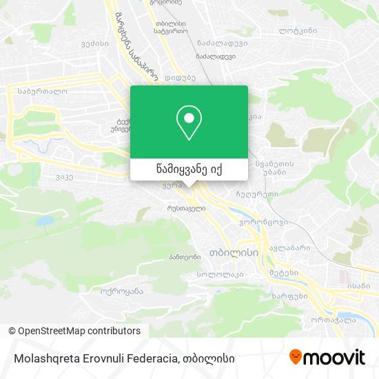 Molashqreta Erovnuli Federacia რუკა