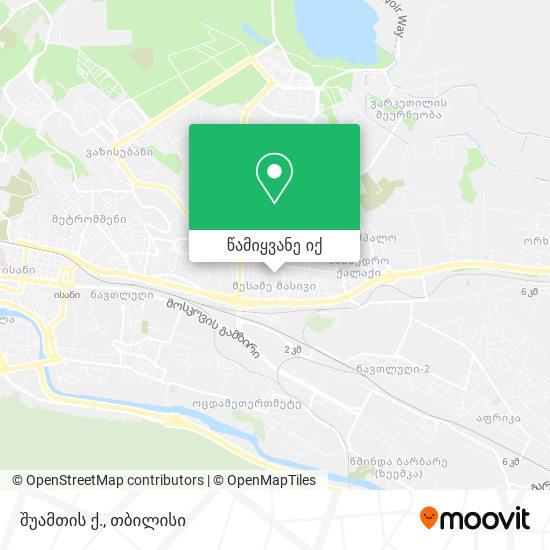 შუამთის ქ. რუკა