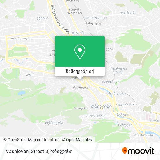 Vashlovani Street 3 რუკა