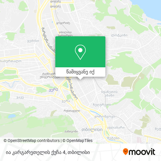 ია კარგარეთელის ქუჩა 4 რუკა