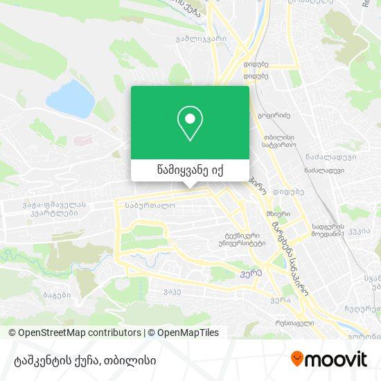 ტაშკენტის ქუჩა რუკა