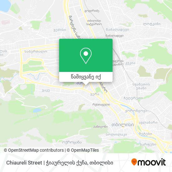Chiaureli Street   ჭიაურელის ქუჩა რუკა