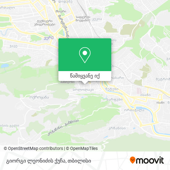 გიორგი ლეონიძის ქუჩა რუკა