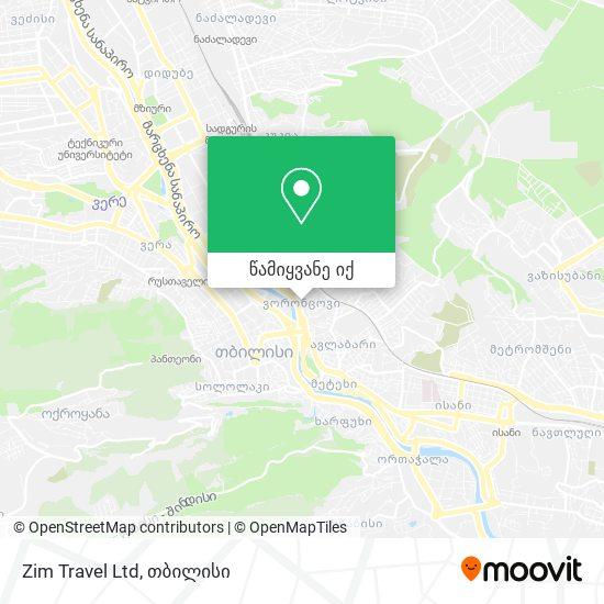 Zim Travel Ltd რუკა