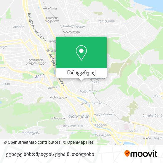 ეგნატე ნინოშვილის ქუჩა 8 რუკა