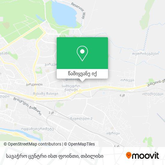 სავაჭრო ცენტრი ისთ ფოინთი რუკა