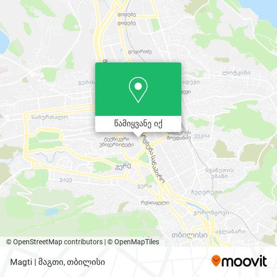 Magti   მაგთი რუკა