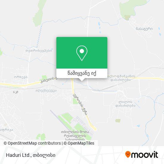 Haduri Ltd. რუკა