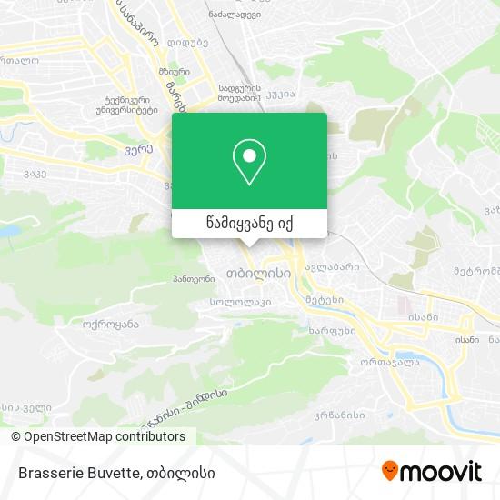 Brasserie Buvette რუკა