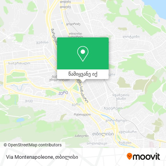 Via Montenapoleone რუკა