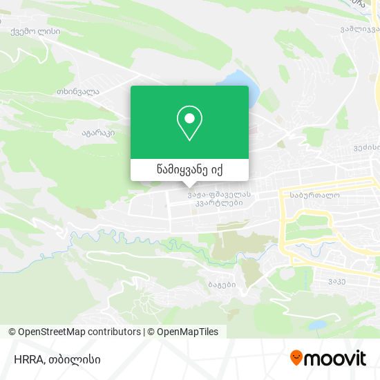 HRRA რუკა
