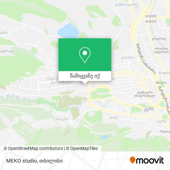 MEKO studio რუკა