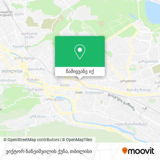 ვიქტორ ნანეიშვილის ქუჩა რუკა