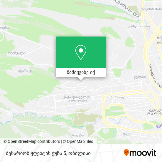 ბესარიონ ჟღენტის ქუჩა 5 რუკა
