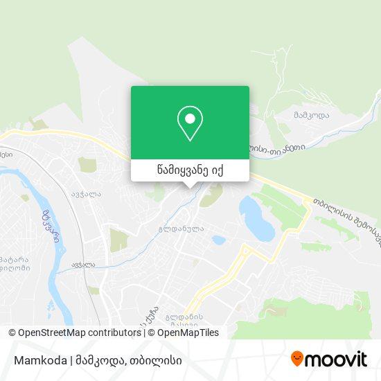 Mamkoda   მამკოდა რუკა