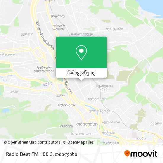 Radio Beat FM 100.3 რუკა