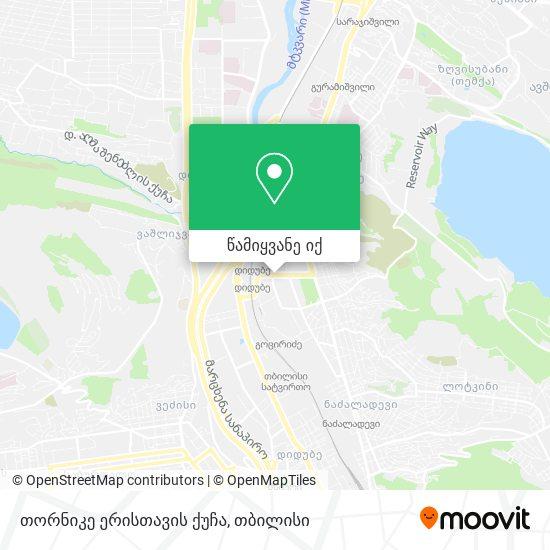 თორნიკე ერისთავის ქუჩა რუკა