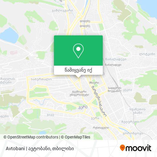Avtobani | ავტობანი რუკა