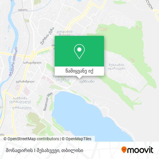 მონადირის I შესახვევი რუკა