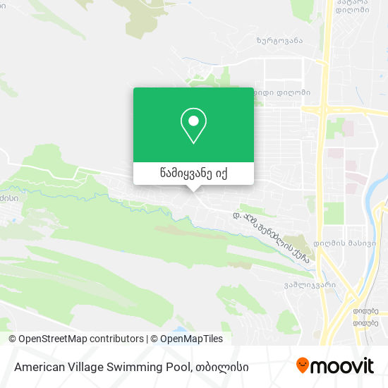 American Village Swimming Pool რუკა