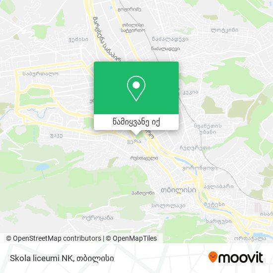 Skola liceumi NK რუკა
