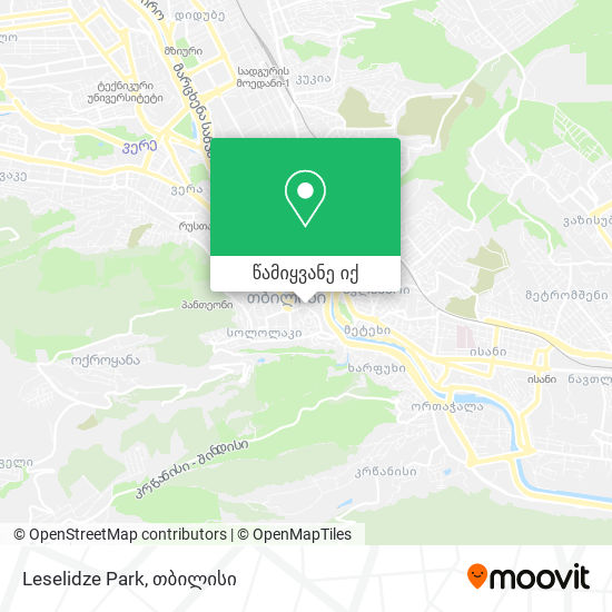 Leselidze Park რუკა