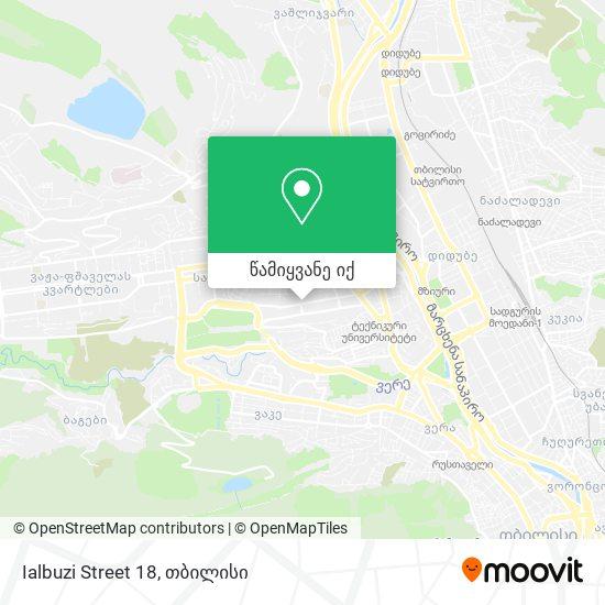Ialbuzi Street 18 რუკა