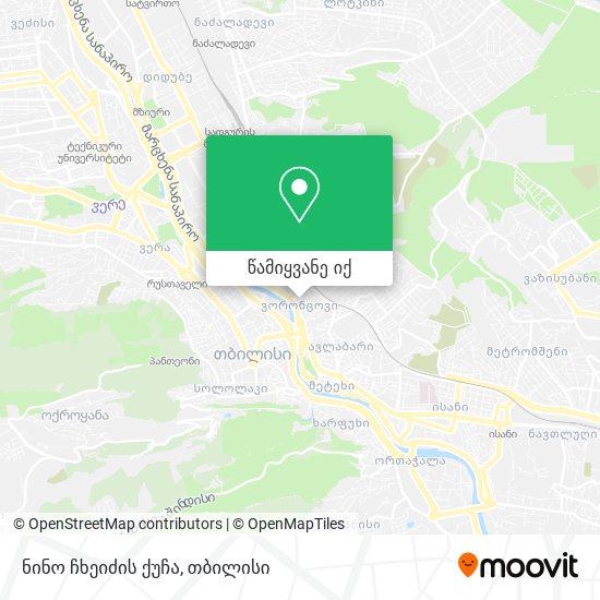 ნინო ჩხეიძის ქუჩა რუკა