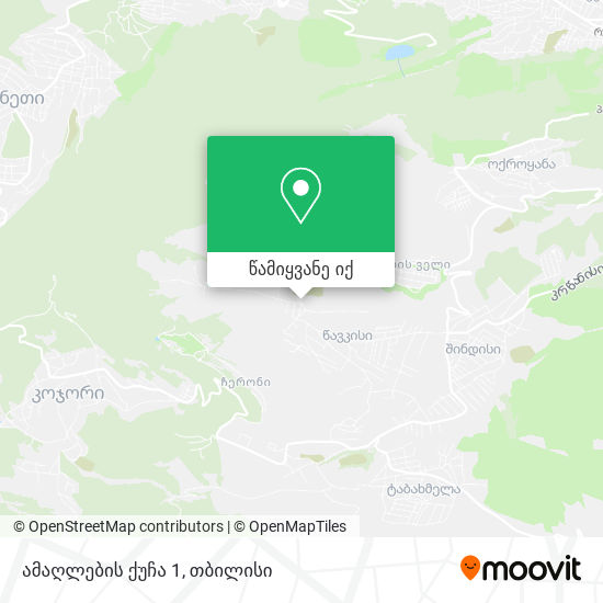 ამაღლების ქუჩა 1 რუკა