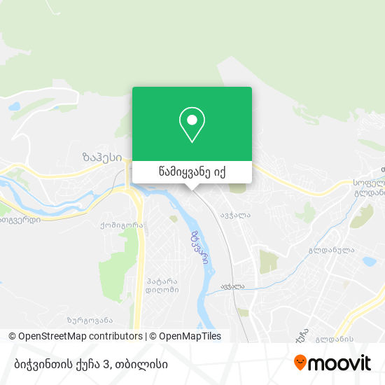 ბიჭვინთის ქუჩა 3 რუკა