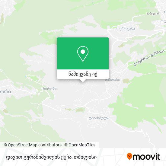 დავით გურამიშვილის ქუჩა რუკა