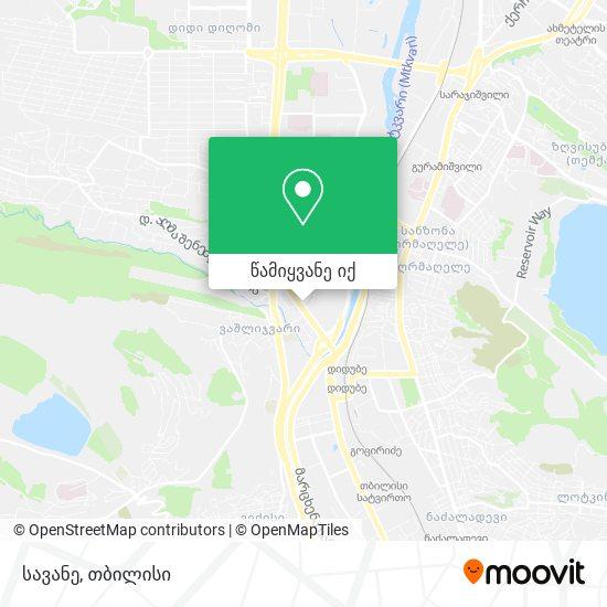 სავანე რუკა